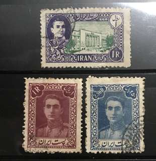 Iran early Ruler  stamps 3v