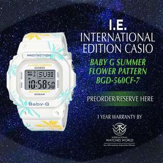 CASIO INTERNATIONAL EDITION BABY G BGD560CF-7 SUMMER FLOWER PATTERN