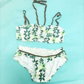 💎Pierre Cardin Green Floral Bikini