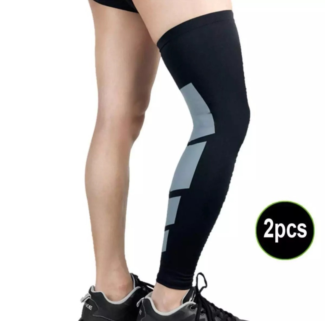 77be040a70 2 Pcs Recovery Compression Leg Sleeve Sport Strech Knees Long ...