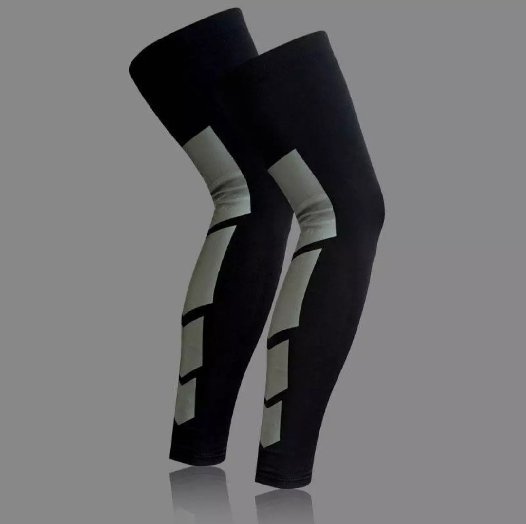 3d4e36ee9a 2 Pcs Recovery Compression Leg Sleeve Sport Strech Knees Long Support Pads,  Sports, Sports Apparel on Carousell