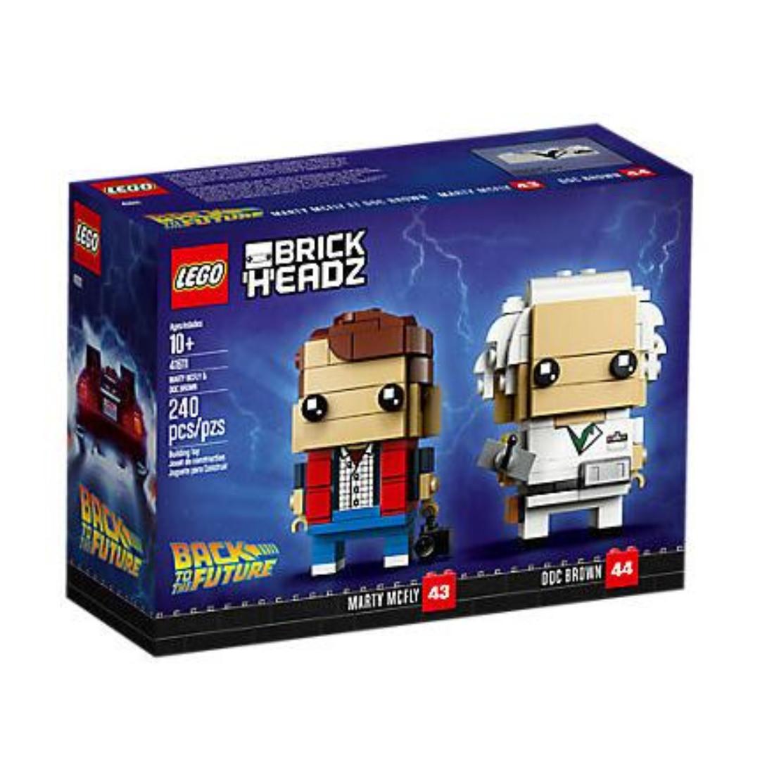 41611 Lego Brickheadz Marty Mcfly Doc Brown Back To The Future