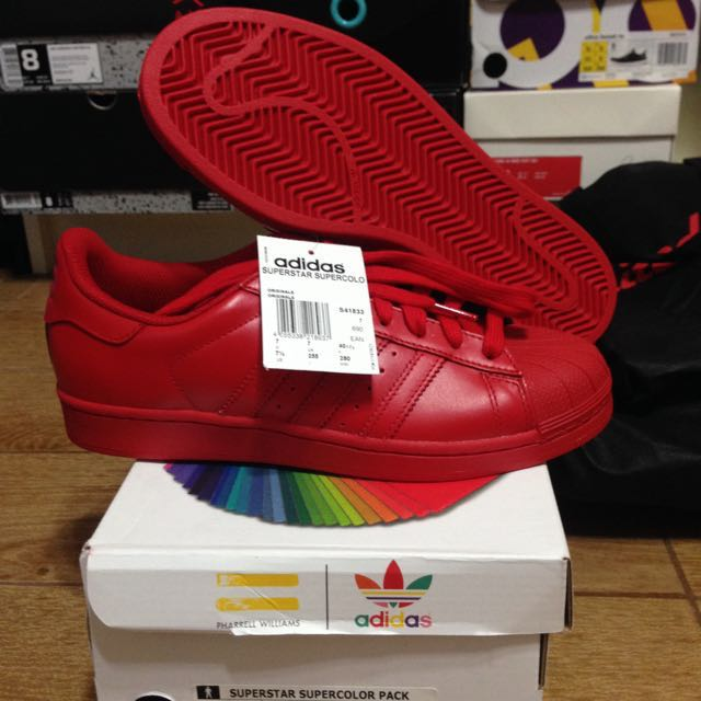 Adidas Superstar Supercolor Pack Red x Pharrell Williams