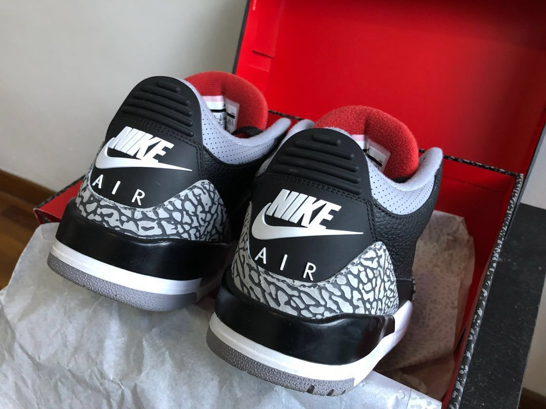 28b3366f86e108 Air Jordan retro 3 OG black cement (size US 10.5)