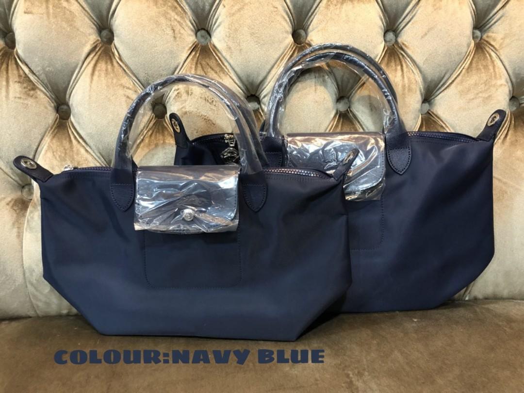 Authentic Longchamp Neo Le Pliage Fesyen Wanita Beg Dan Duit Ruby Sz Small Photo