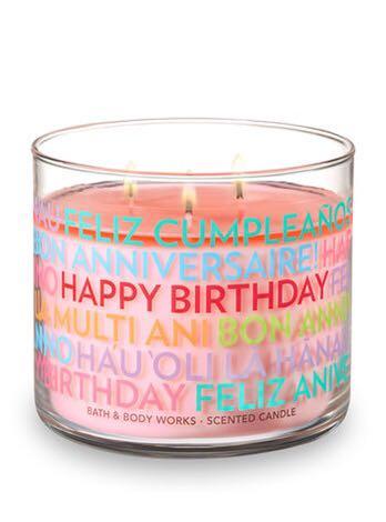 BN Bath Body Works Happy Birthday 3 Wick Candle