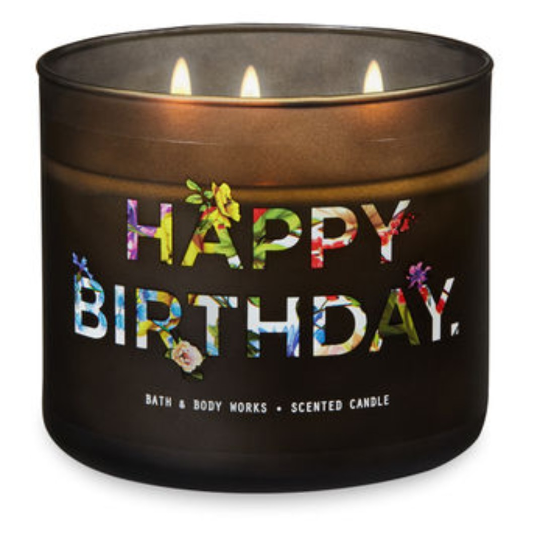BN Bath Body Works Happy Birthday 3 Wick Candle