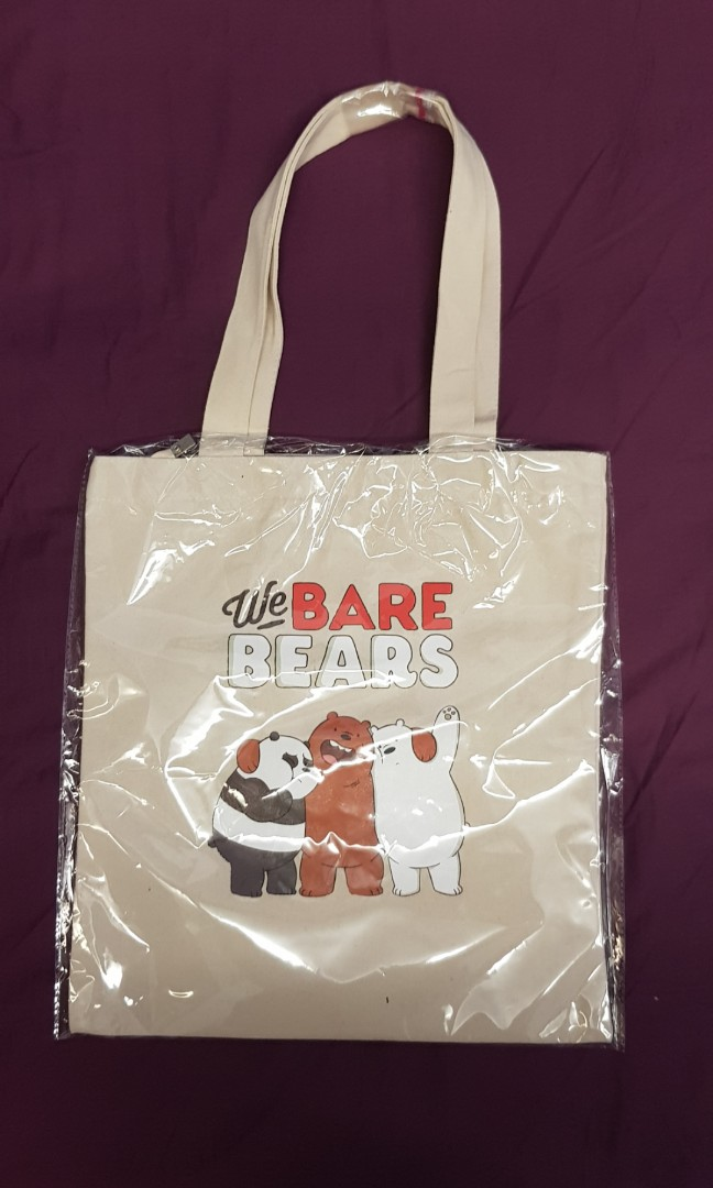 45569a5fe094 BNIB Wee Bare Bears Machine washable canvas tote bag, Women's ...