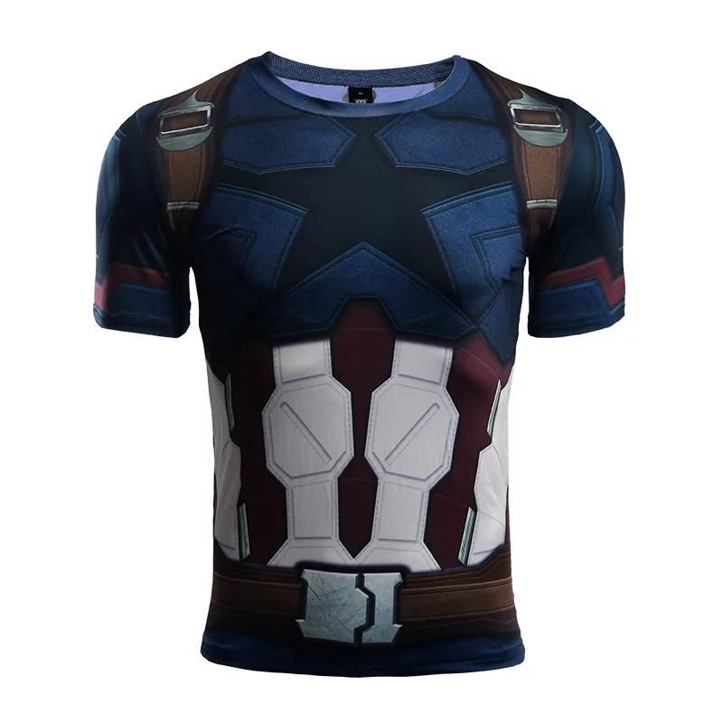ffe30a85 Captain America InfinityWar Compression Shirt (Short Sleeve), Men's ...