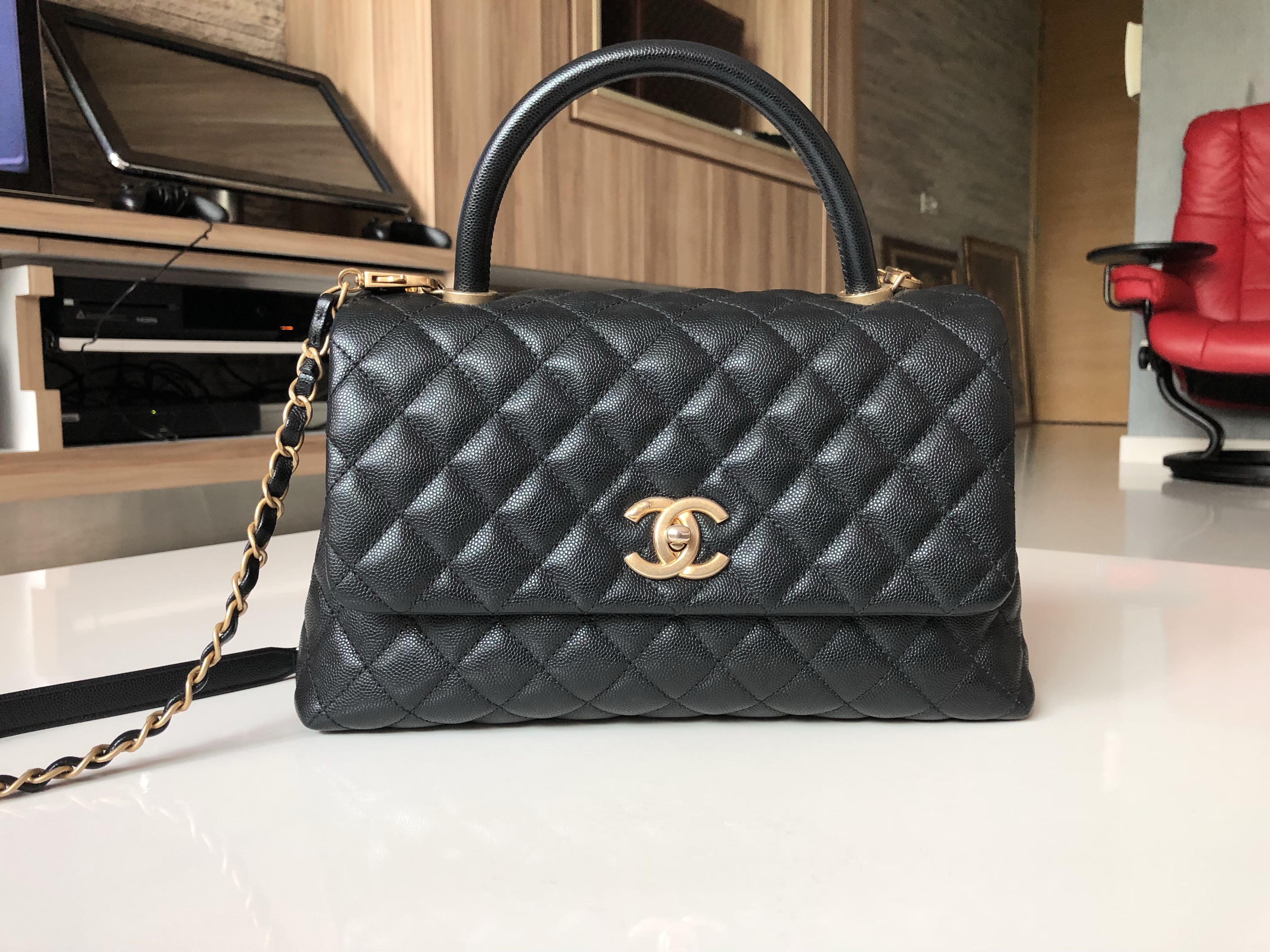 a5ce3bbd3f83 Chanel coco handle small GHW ( free hermes twilly with BIN)