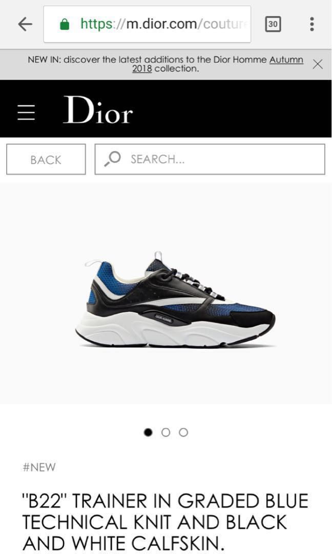 Dior Homme Trainer, Men s Fashion, Footwear, Sneakers on Carousell 461375ed9f2