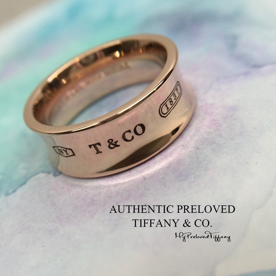 77df0b9a28c Excellent Authentic Tiffany   Co. 1837 Rubedo Metal Ring  5.5 ...