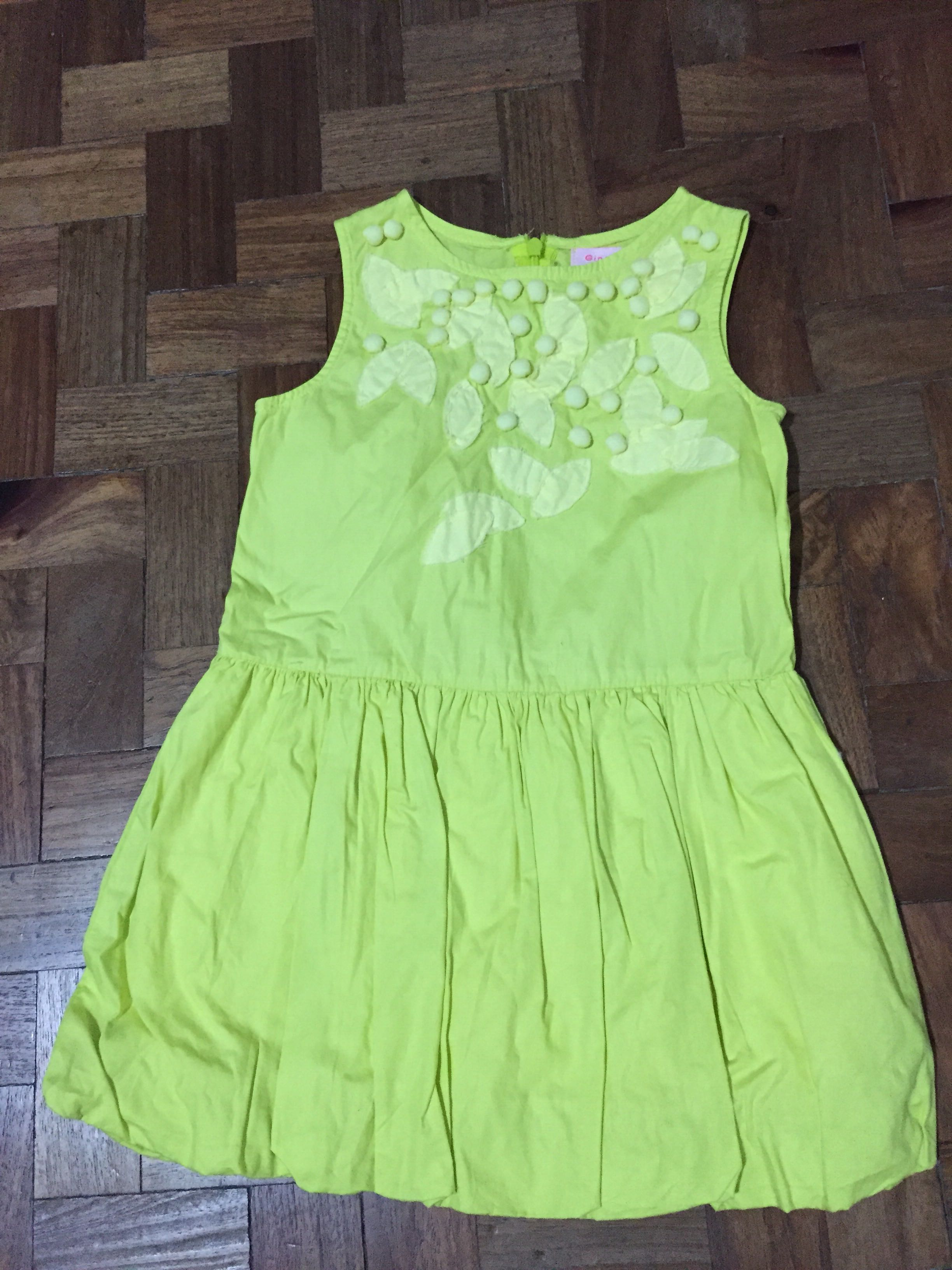 6b591ca6d768 Gingersnaps Yellow Green Dress