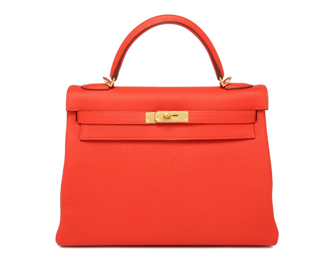 8b9f74423045 Hermes Kelly 32 in Capucine Epsom Leather