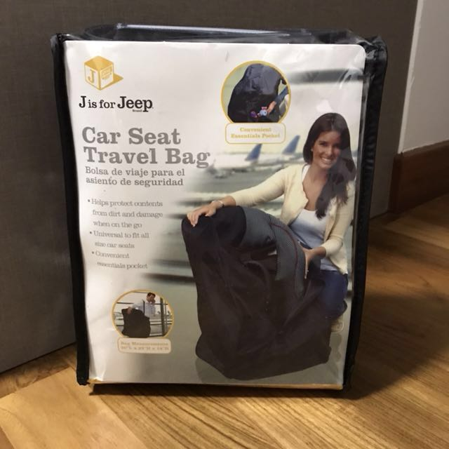 J Is For Jeep Car Seat Travel Bag