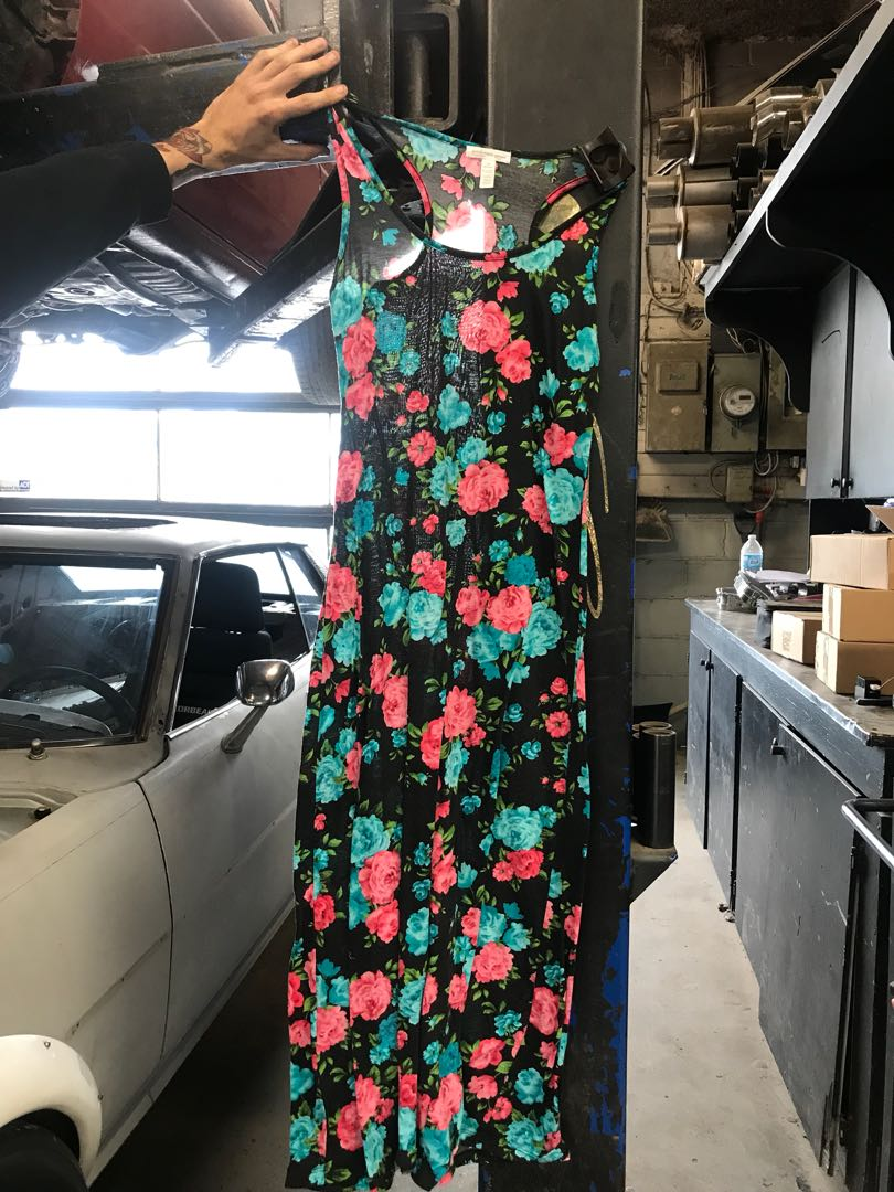 Long floral maxi dress size M