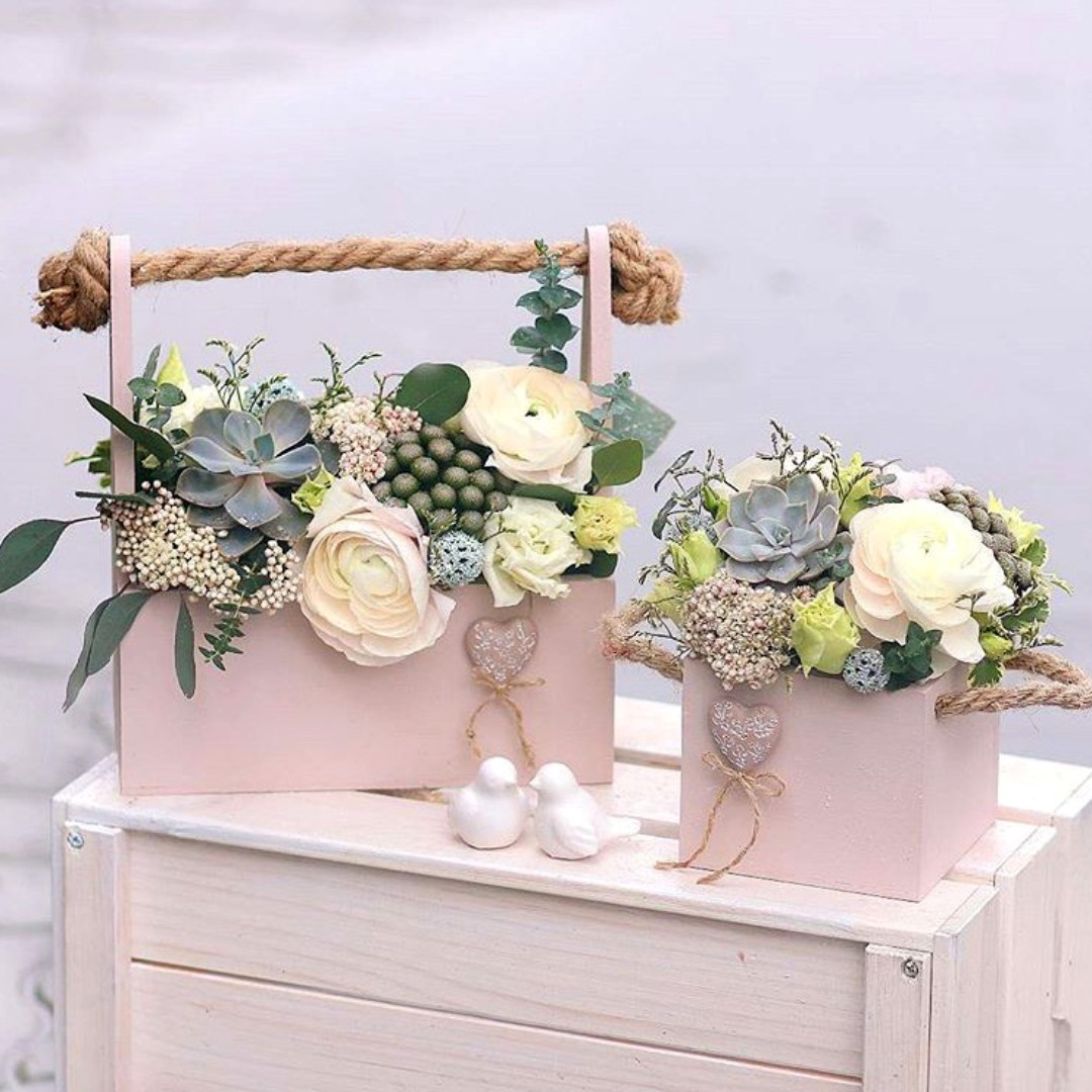 Planter Box Wooden Box For Flowers Arrangement Furniture Home Decor Others On Carousell