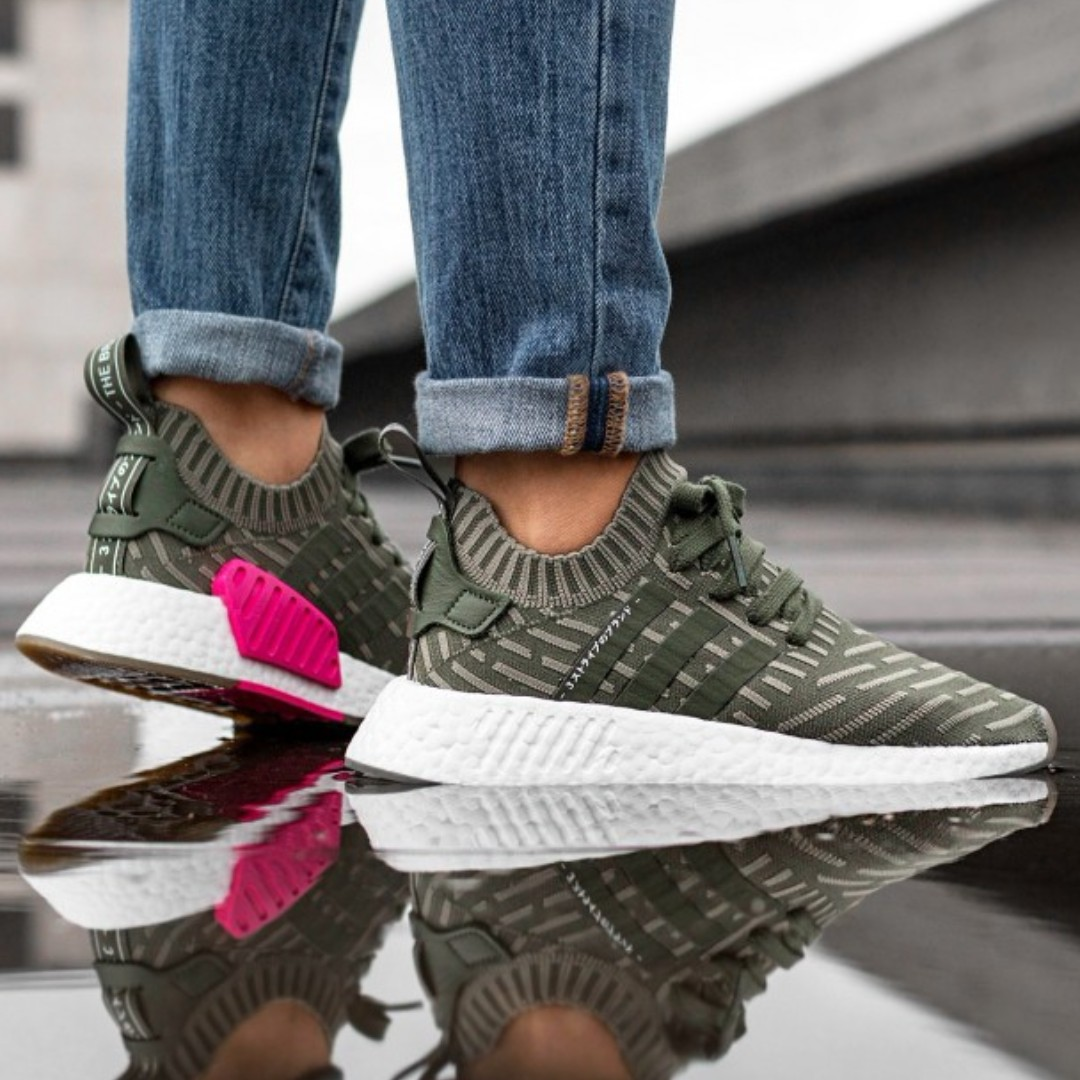 554e6f1ce PO) Adidas Womens NMD R2 PK Japan Olive Green