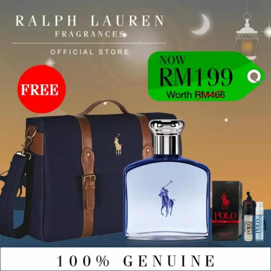 21d37e0a61 Polo Ultra Blue Ralph Lauren EDT Spray Fragrance For Men 75ml + Free ...