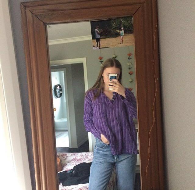 Purple pullover