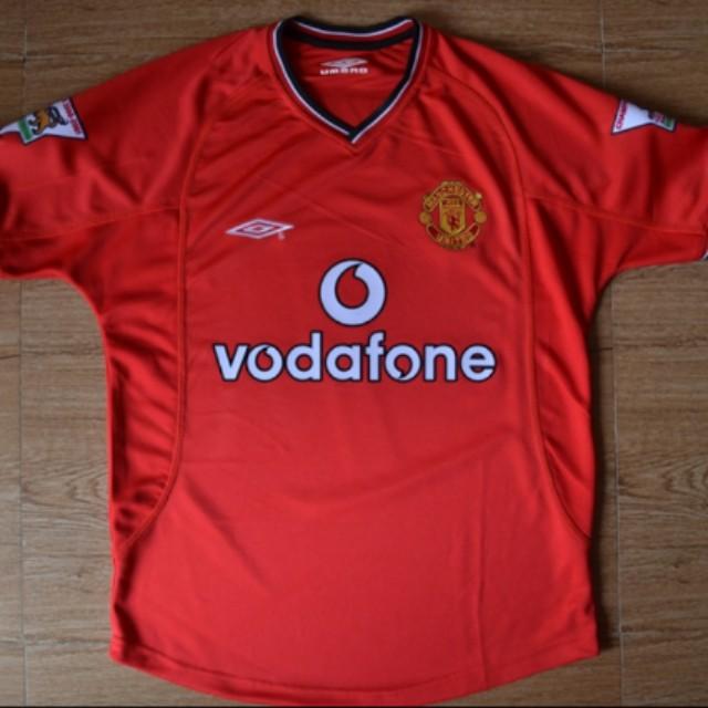 da818a8e7 Retro Manchester United 01 02 Home Jersey