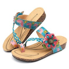 SOCOFY Leather Casual Sandals