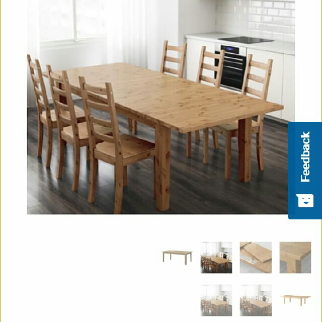 Stornas Ikea Extensible Dining Table And 6 Chairs 110 Only
