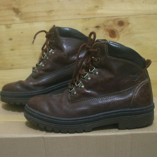 c4aedc876d7 Timberland boots gore tex Brown leather hiking trail work shoes original