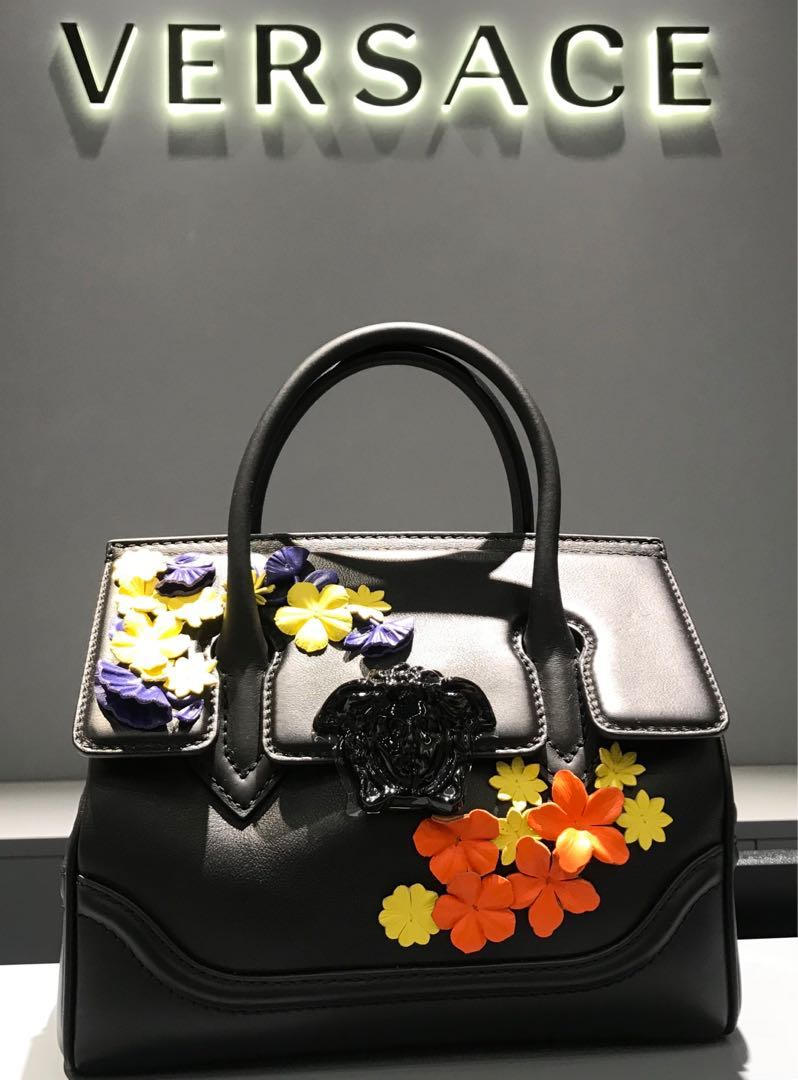 d72083a83f Versace Palazzo Empire Bag with Flower ( Small ) 💯