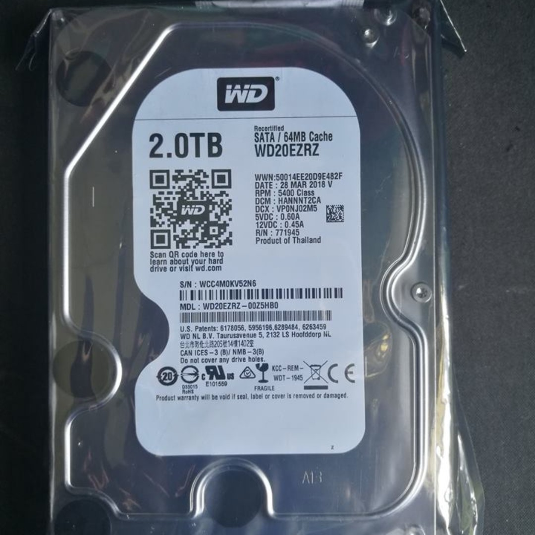 Wd Blue 2tb New Rma Electronics Computer Parts Accessories On Hardisk Hdd Internal Pc 320gb Carousell