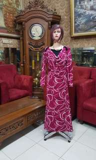 Dress/gamis  spandek S/fit M