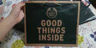 Paperbag the body shop paper bag