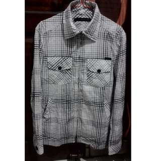 Kemeja model Jaket Calvin Klein Jeans Original White Black