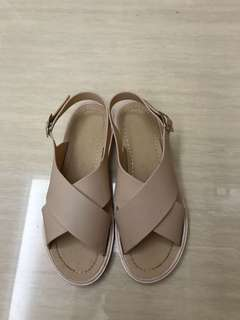 Jelly Bunny pastel nude sandals