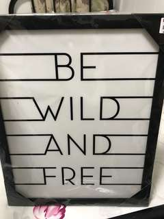 Be wild and free canvas