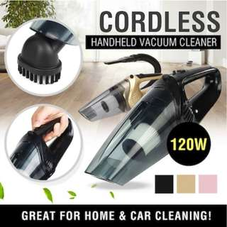 CORDLESS Handheld Car/Home Vacuum Cleaner 120W 4000PA Suction Wet/Dry with LED