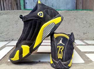 "Authentic Air Jordan 14 Retro ""Thunder"""