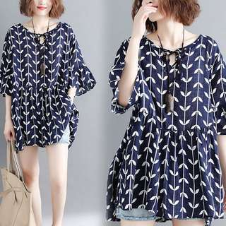 Plus Size Summer loose cotton short-sleeved T-shirt