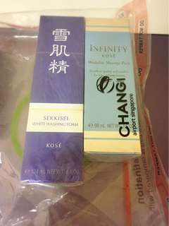 Kose facial foam & massage pack