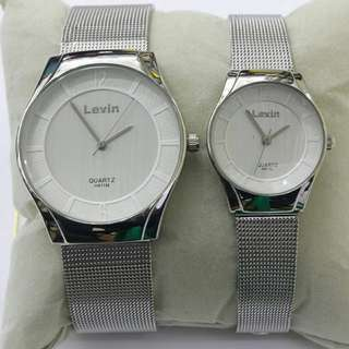 Jam tangan couple levin premium + box
