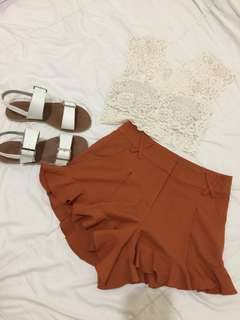 Lace top and high quality short