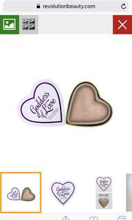 I Heart Revolution Blushing Hearts- Goddess of Love Highlighter