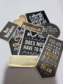 pretty tumblr stickers - black and gold