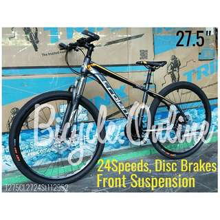 "CROLAN 27.5"" MTB / Mountain Bikes ☆ 24 Speeds ✩ Disc brakes, Front suspension ✩ Brand new bicycles"