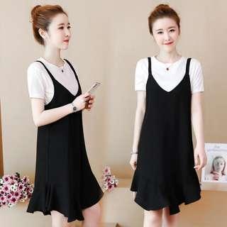 (L~4XL) Summer Suite Women's New Dress Dress