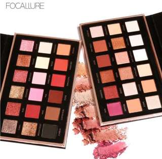 Focallure 18 Colors Shimmer Pigmented Eyeshadow makeup