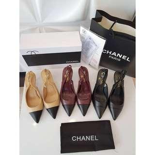 Sepatu Chanel Heels New Mirror Quality