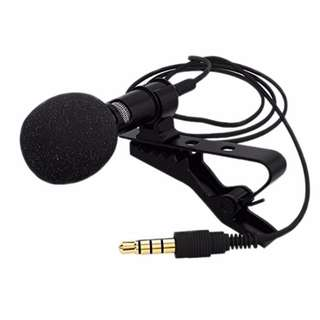 3.5mm Jack Voice Pickup Collar Clip-on Mini Microphone