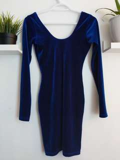 American apparel velvet dress