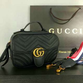 Gucci GG Marmont Crossbody with Canvas Strap